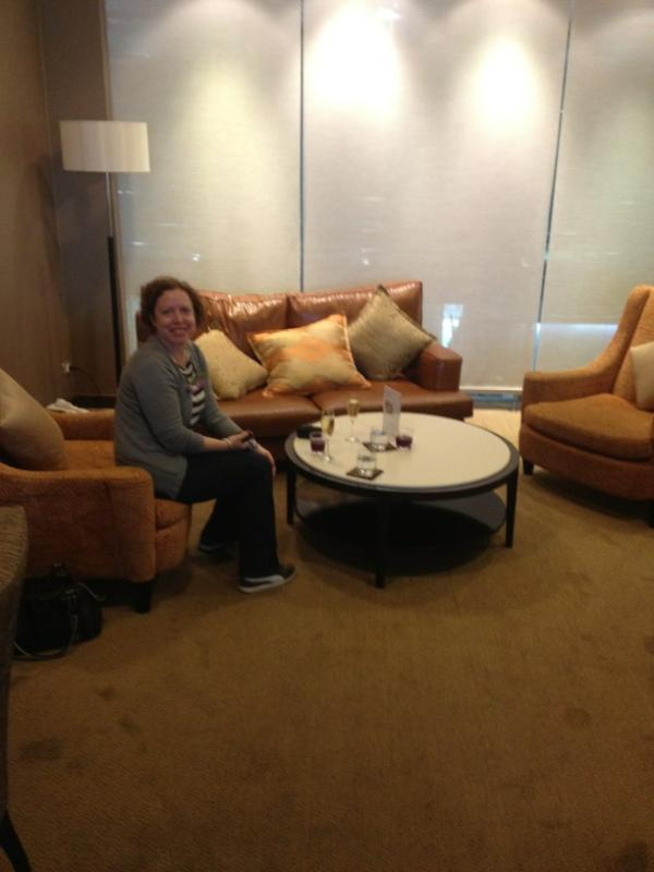 Living room at Thai Airlines First Class lounge