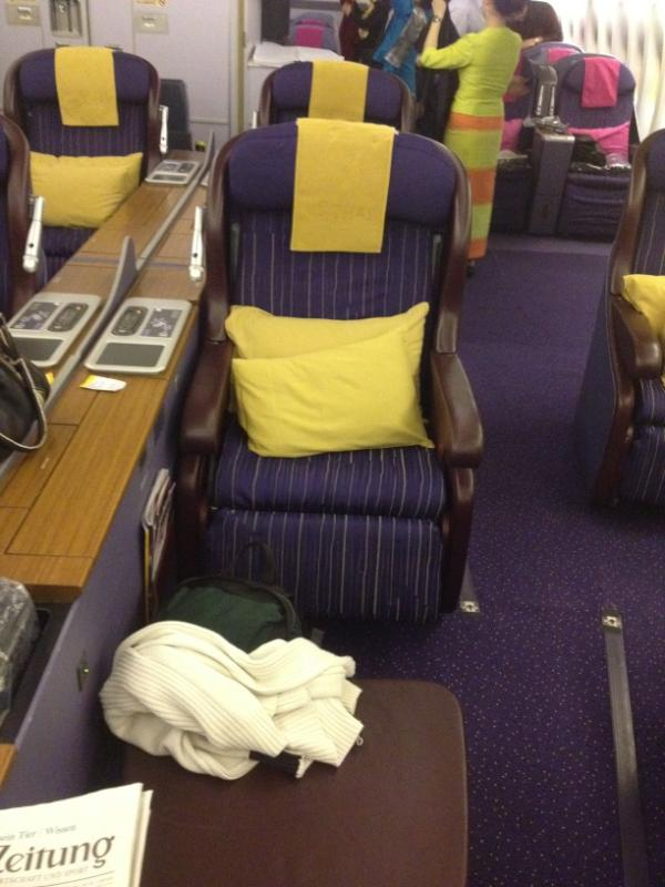 Thai Airways first class seat