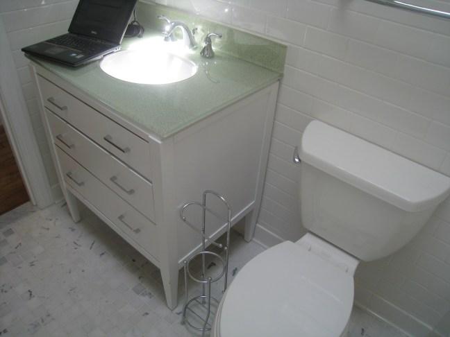 glittery sink
