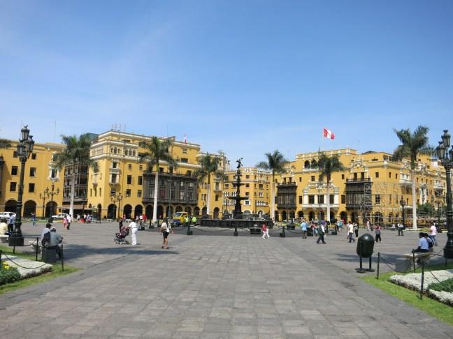 the Plaza de Armas, Lima, Peru