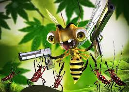 bee with guns