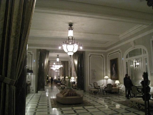 Lobby at Hotel Maria Cristina, San Sebastian, Spain