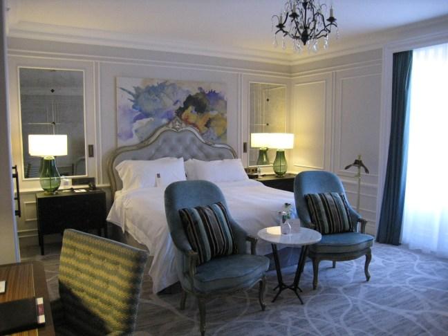 Our room at Hotel Maria Cristina, San Sebastian, Spain