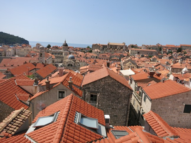 Red roof tiles in Dubrovnik, Croatia