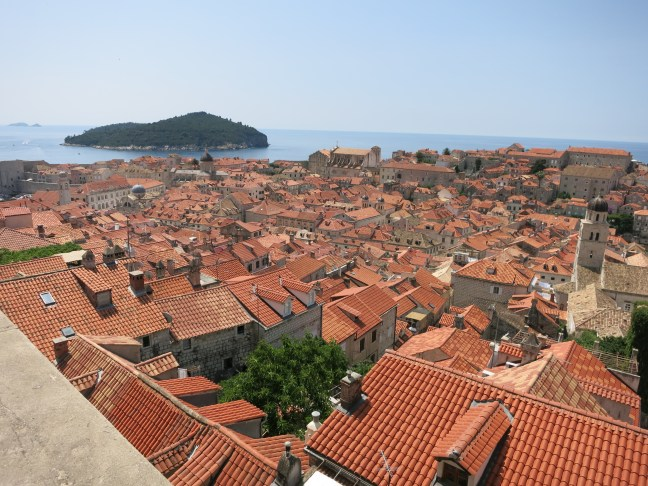 View of roofs in Dubrovnik, Croatia