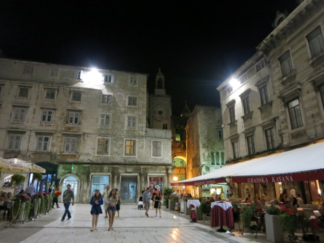 Nighttime in Split, Croatia