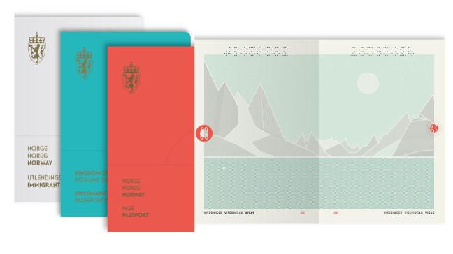 Norway's new passport is purty.
