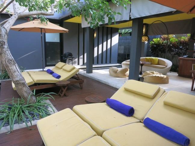 W Hotel Bali Private Villa loungers