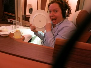 Givenchy plates on Singapore Airlines