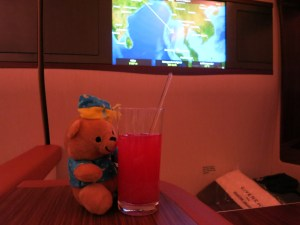 Birthday bear with a Singapore sling.