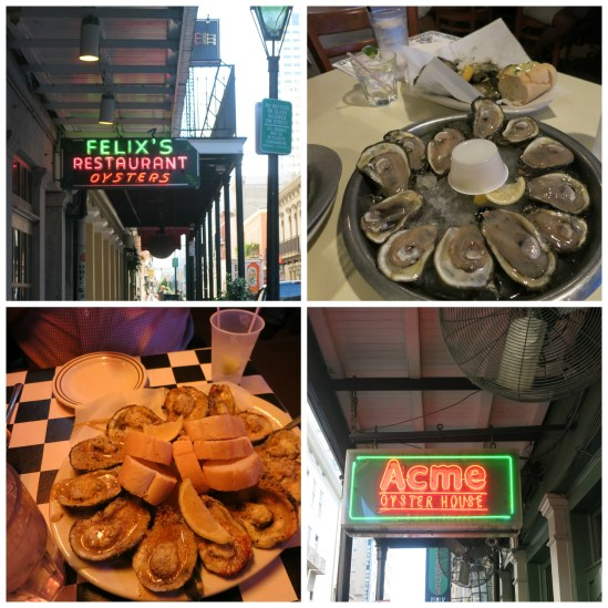 Let's see, from left to right: oysters, oyster place, oysters, and oyster place.