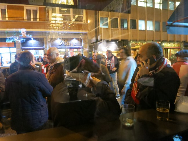Bilbao bar scene on soccer night