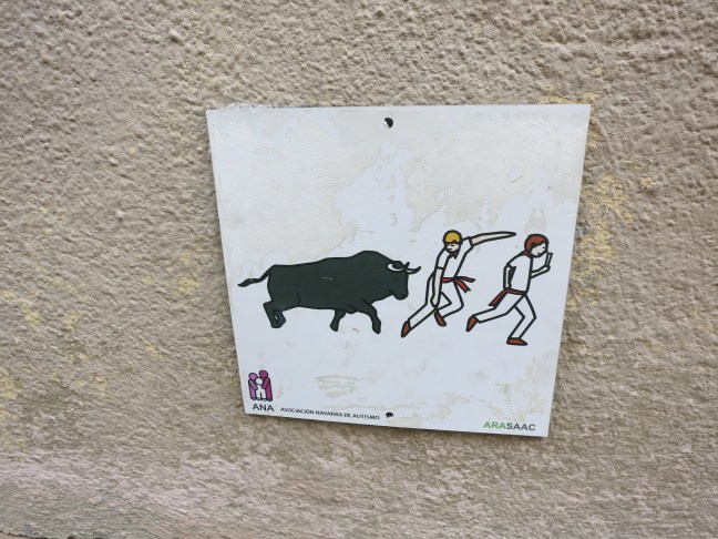 Pamplona - Running of the Bulls sign