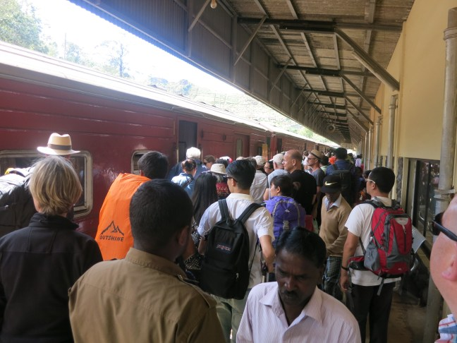 Boarding the train in Sri Lanka
