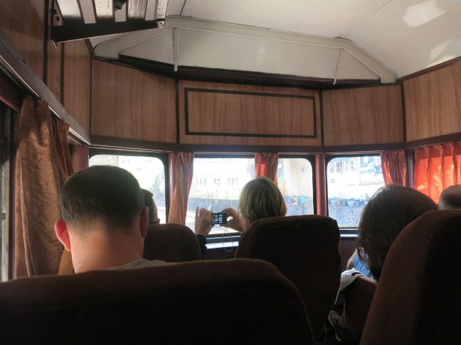 Observation car on Sri Lanka train