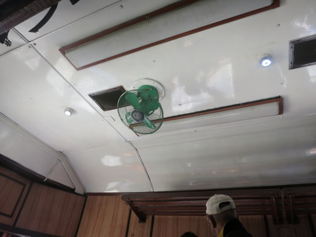 Fan on the Sri Lanka train