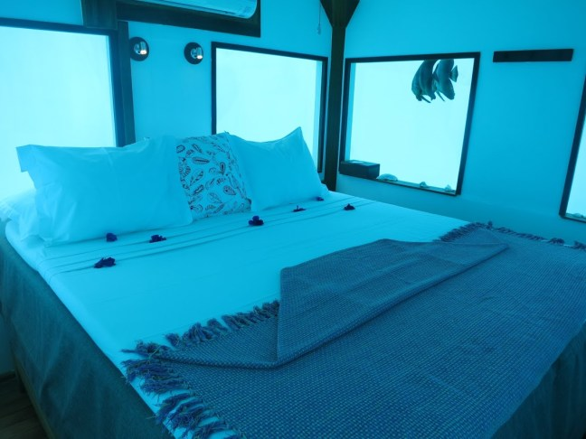 Underwater room at Manta Resort, Pemba
