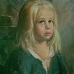 Petite fille en pleurs