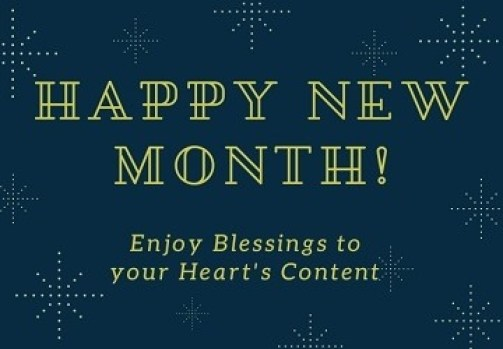 Congratulatory New Month Messages