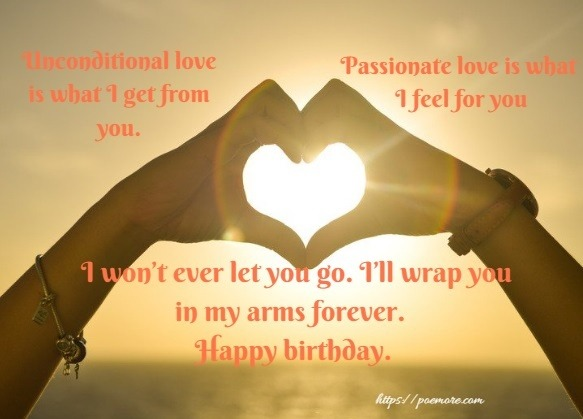Romantic Birthday Wishes and Image