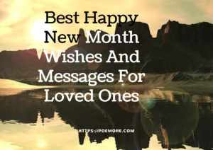 Happy New Month Wishes For Loved Ones