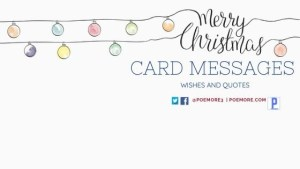 Merry Christmas Messages on Cards