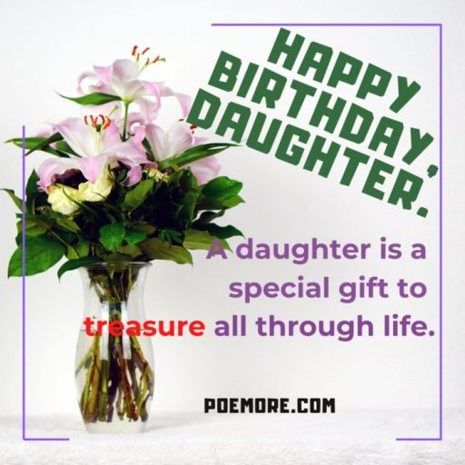 Happy Birthday Quote for Daughter