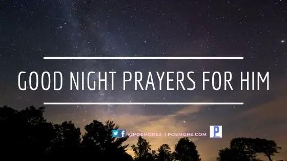 Good Night Prayers For Him