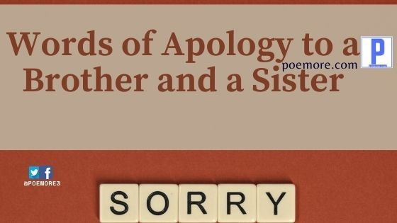 Words of Apology