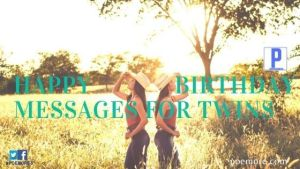 Birthday Messages to Twins