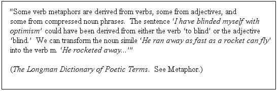 Verb Metaphor Footnote