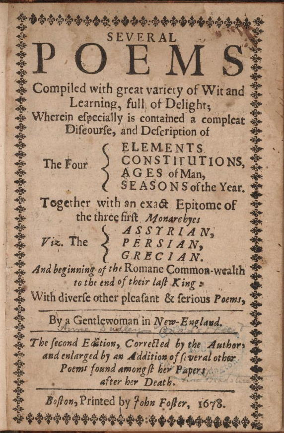 Bradstreet's First Edition
