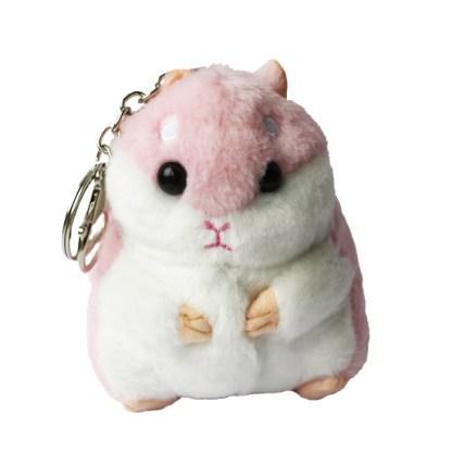 Sleutelhanger hamster licht roze