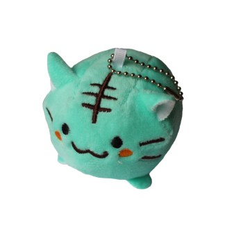 Kat knuffel turquoise