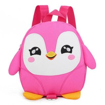 Pinguïn rugzak roze