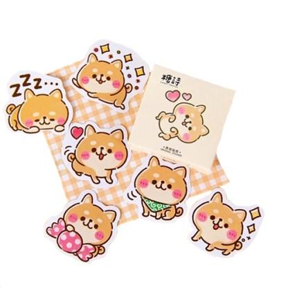 Shiba stickers in doosje