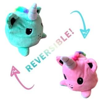 Reversible eenhoorn knuffel