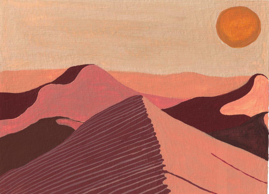 Sahara desert - Gouache painting
