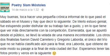 poetry slam Möstoles facebook_Esmeralda Carroza