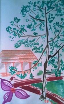 Bridge at Silver Creek watercolor