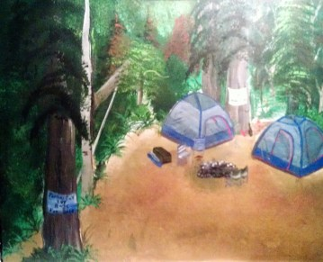 Camping In Timber Country acrylic