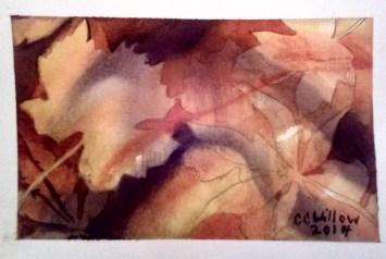 FAllen Leaves 2 watercolor
