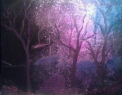 Forest At Night acrylic