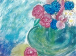 Green Vase acrylic