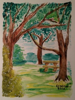 Glen at Capitol Manor watercolor