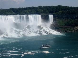 The American Falls and Bridal Veil Falls