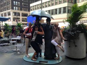 I, and my crazy-awesome girlfriends! (plus street statues).