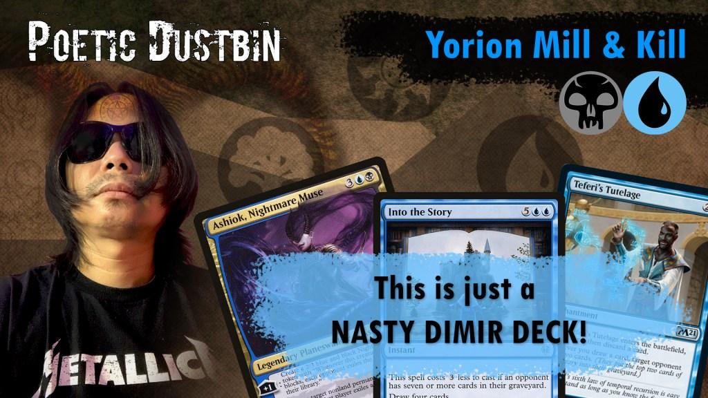 MTG Arena - Original Standard Dimir Yorion Mill and Kill Control Deck with Ashiok