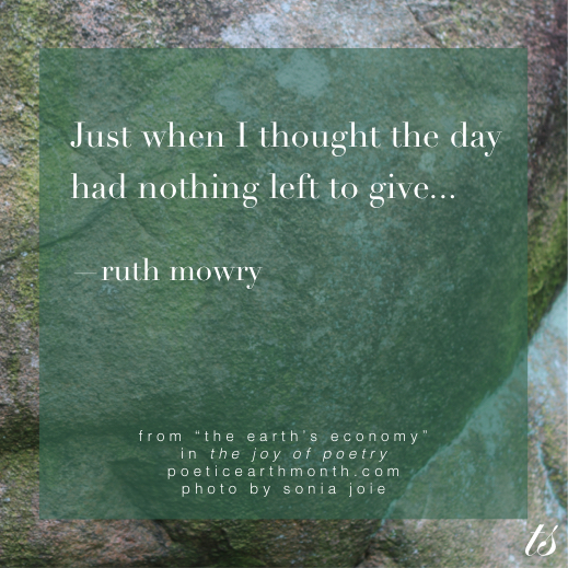 Just when I thought the day - Ruth Mowry in The Joy of Poetry