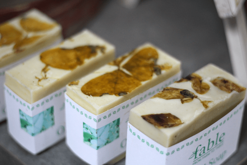 Basil Soap from fable farm